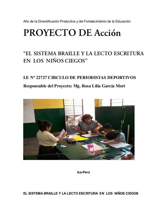 Proyecto Acción En Niños Ciegos