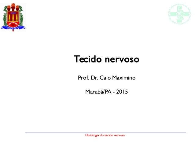 Histologia do tecido nervoso Tecido nervoso Prof. Dr. Caio Maximino Marabá/PA - 2015