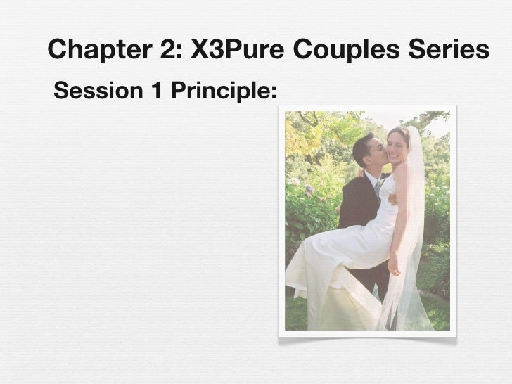 Chapter 2: X3Pure Couples Series Session 1 Principle: