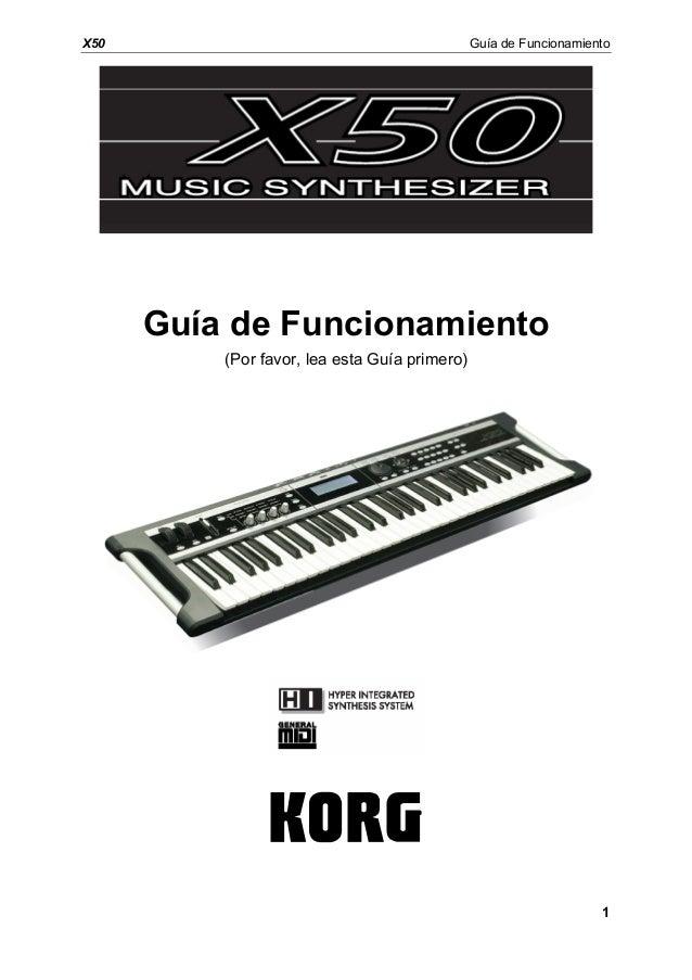 manual del korg x50 en espa ol rh es slideshare net Korg X5 Korg M3
