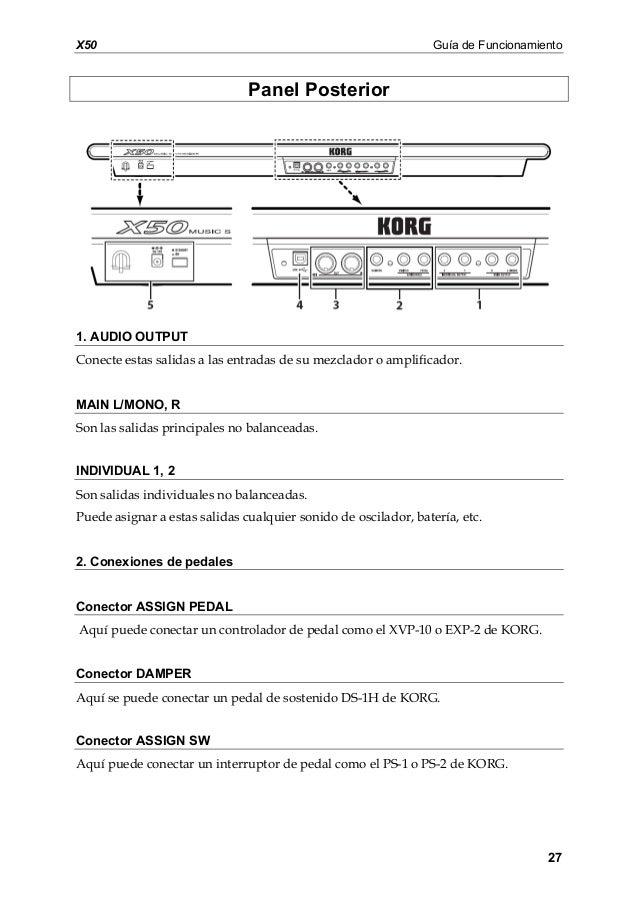 manual de korg x50 en espaol