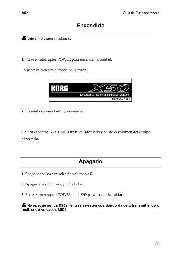 manual korg m50 español pdf