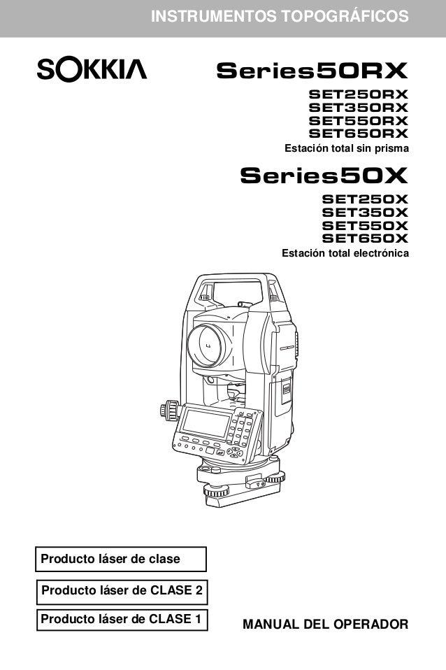 manual estacion total 50rx espa ol rh es slideshare net manual para estacion total sokkia cx 105