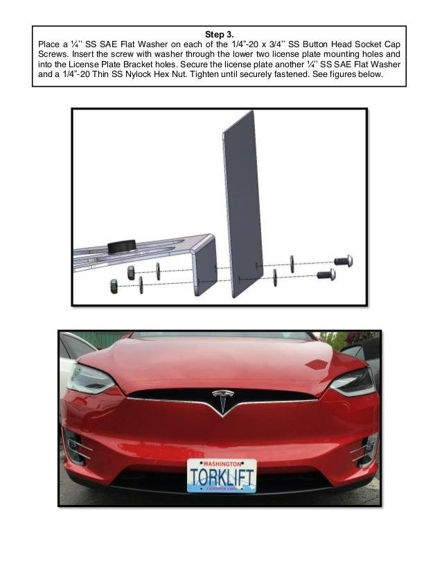 Tesla license plate screws