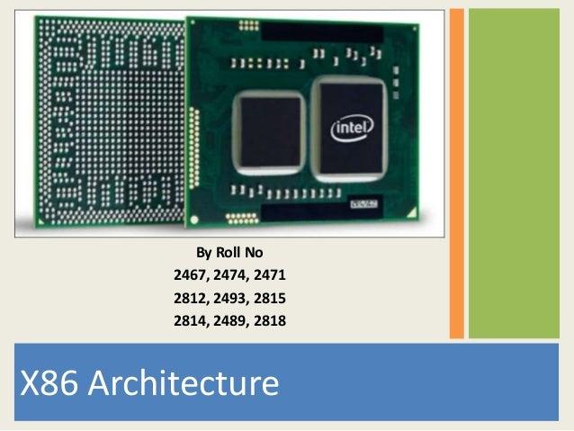 Arm X86 Architecture : X architecture