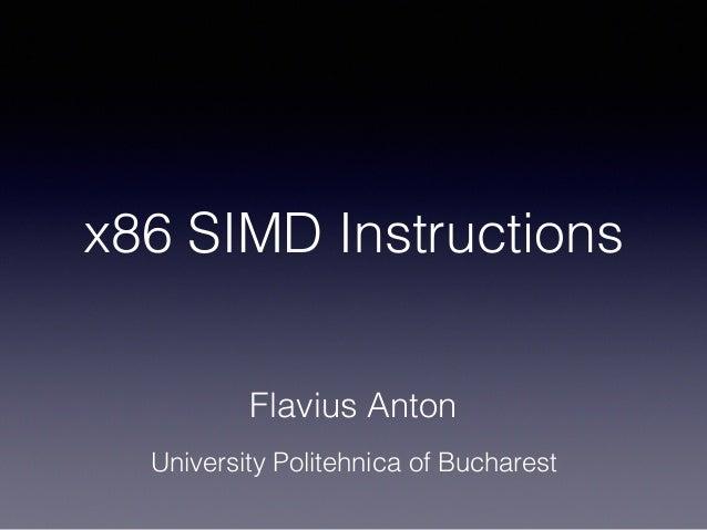 X86 Simd Instructions