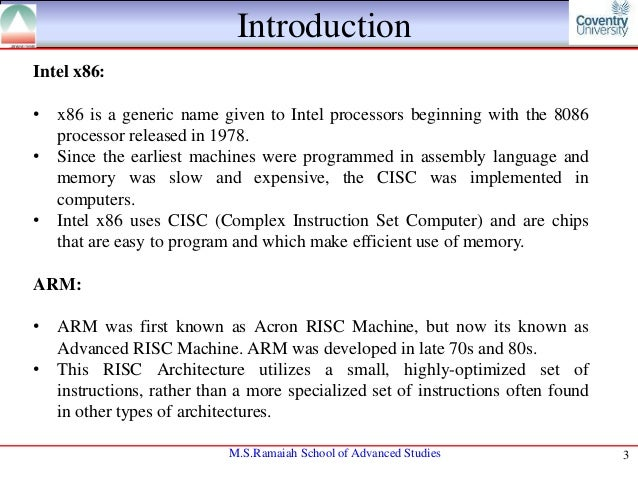 x86 and intel By steven rodgers and richard a uhlig it's been nearly 40 years since intel  introduced the first x86 microprocessor, the intel 8086 launched.