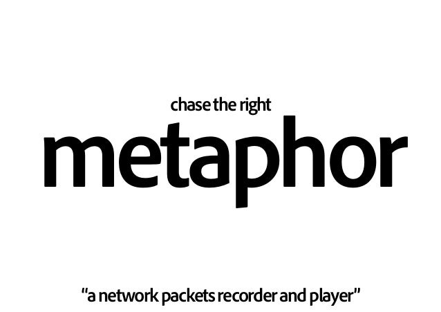 "chasetheright metaphor ""anetworkpacketsrecorderandplayer"""