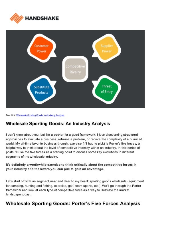 analysis of indias sports goods industry Design thinking sessions helped to detect problems in the dairy industry in india  of the goods and  is inviting all sports enthusiasts to.