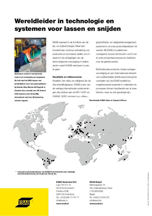 Wereldleider in technologie en systemen voor lassen en snijden ESAB opereert in de frontlinie van de  gezondheids- en veil...