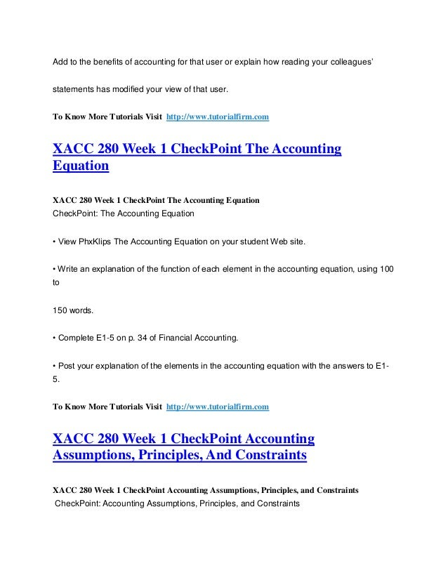 xacc 280 week 5 dq 1 Xacc 280 week 5 dq 1 xacc 280 week 5 dq 2 xacc 280 week 5 reversing entries xacc 280 week 6 assignment the nine steps of the accounting cycle.