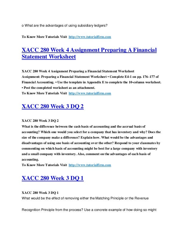 xacc 280 checkpoint week 4 subsidiary ledgers and special journals Xacc 280 week 4 appendix n checkpoint: subsidiary ledgers and special journals explain in 250 to 300 words, your answers to the.