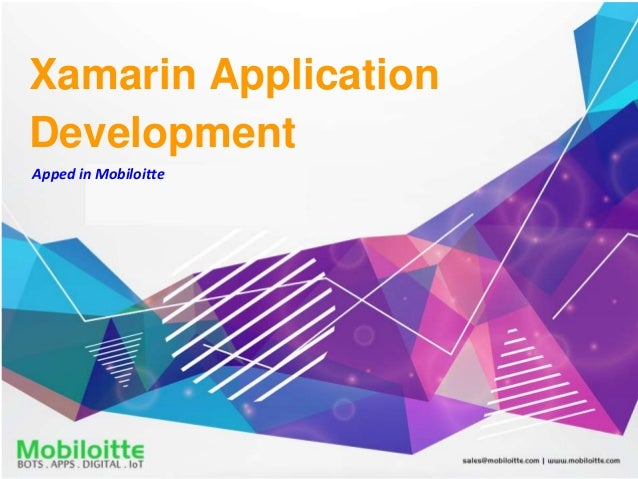 Xamarin Application Development Apped in Mobiloitte