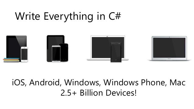 Write Everything in C#  iOS, Android, Windows, Windows Phone, Mac  2.5+ Billion Devices!