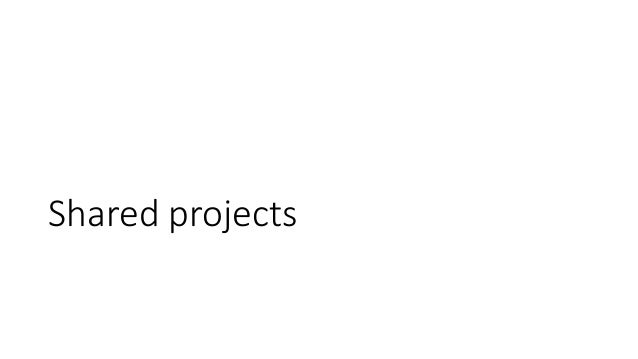 Shared projects