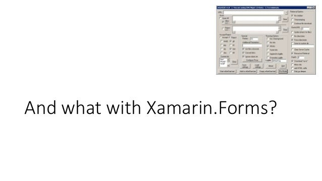 And what with Xamarin.Forms?