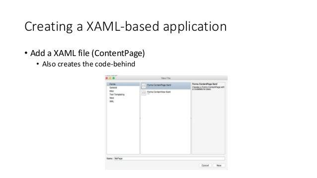 DEMO  XAML-based Xamarin.Forms