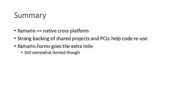 C# everywhere: Xamarin and cross platform development