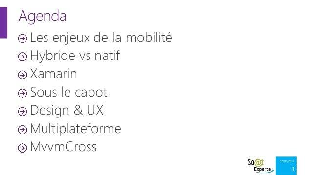 Xamarin et le développement natif d'applications Android, iOS et Windows en C# Slide 3