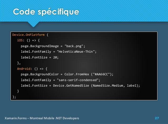 Xamarin Forms [french]