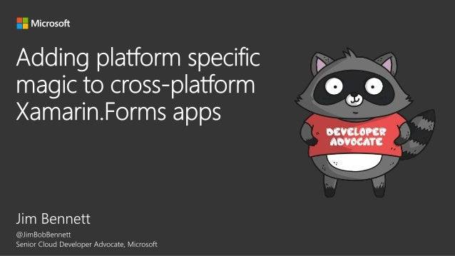 Adding platform specific magic to cross-platform Xamarin