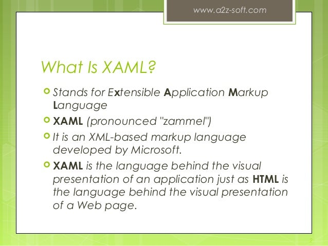 About XAML & HTML+CSS