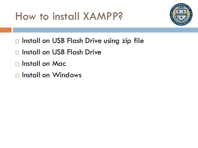 CS1520 Intro and Xampp installation