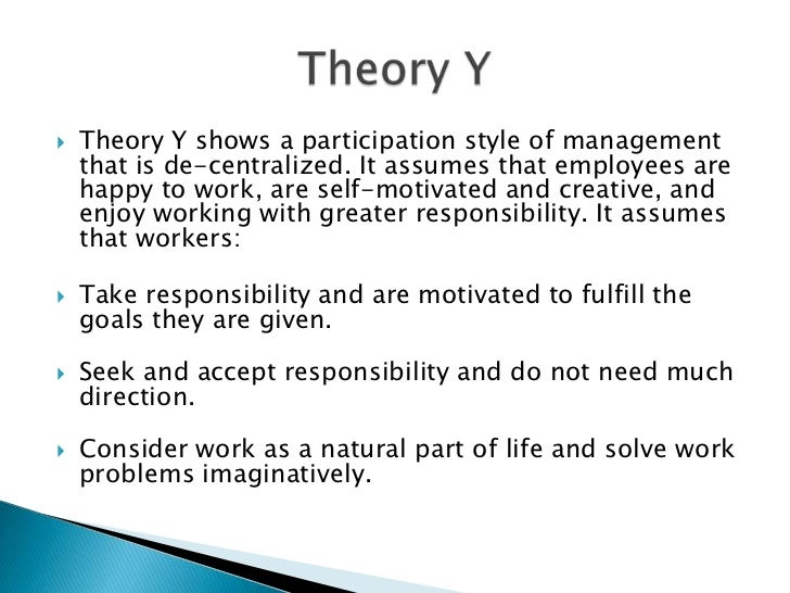 theory x y and z Douglas mcgregor's xy theory, managing an x theory boss, and william ouchi's theory z douglas mcgregor, an american social psychologist, proposed his famous x-y theory in his 1960 book 'the human side of enterprise' theory x and theory y are still referred to commonly in the field of management and.