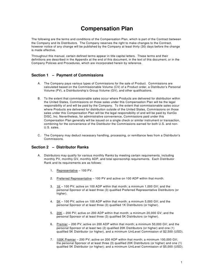XANGO COMPENSATION PLAN PDF