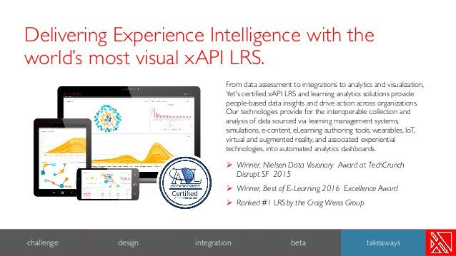 From data assessment to integrations to analytics and visualization, Yet's certified xAPI LRS and learning analytics solut...