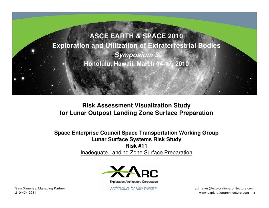 Risk Assessment Visualization Study for Lunar Outpost Landing Zone Surface Preparation