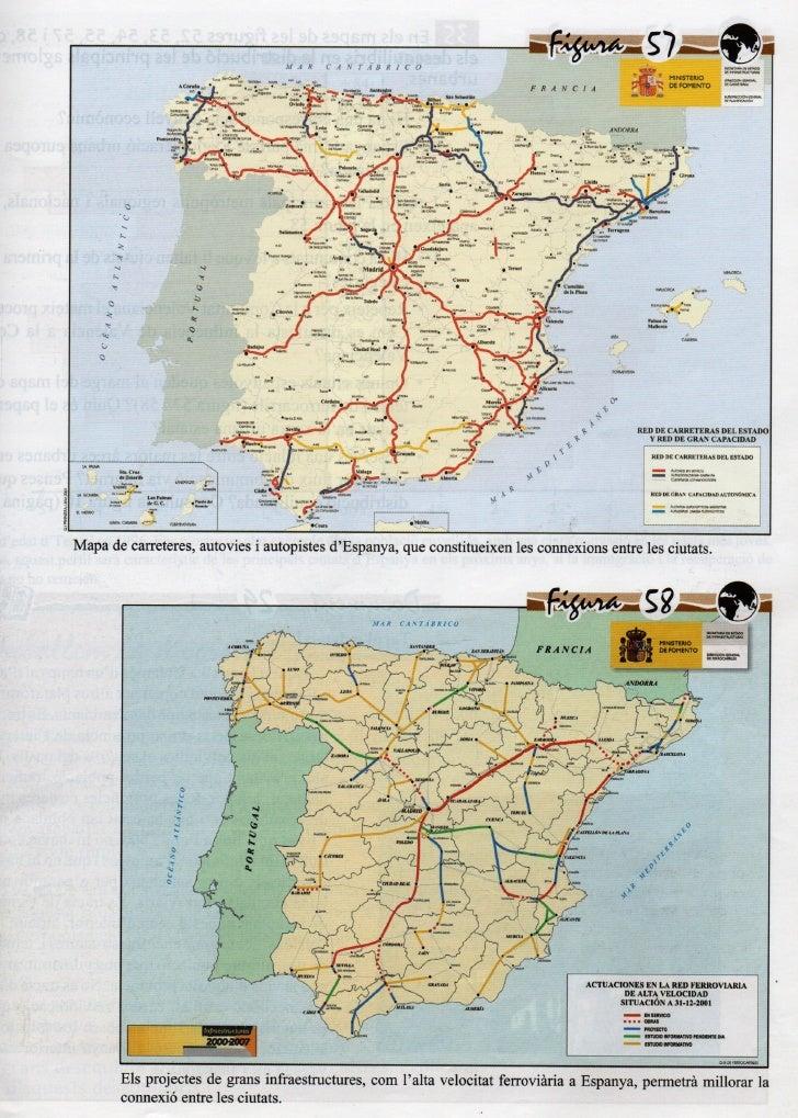 Xarxa Carreteres espanyoles + AVE 2001
