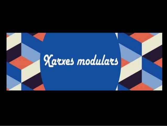 Xarxes modulars  • Les estructures creades  per la repetició d'un  modul que es fan servir  en el disseny per  ordenar les...