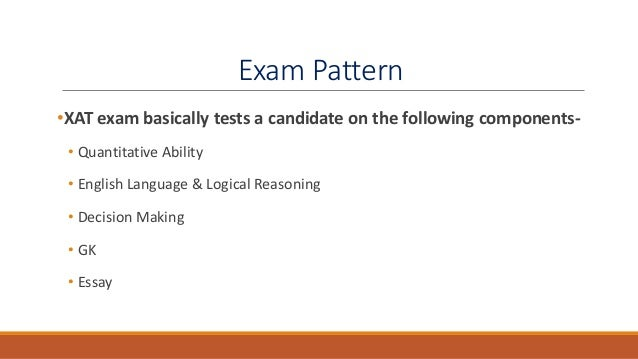 Section wise Syllabus of XAT      Exam MBA Glue