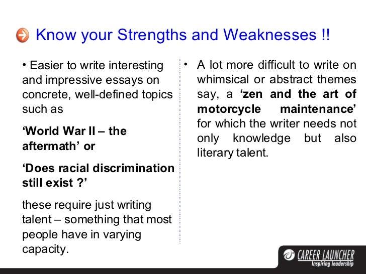 abstract essay topics