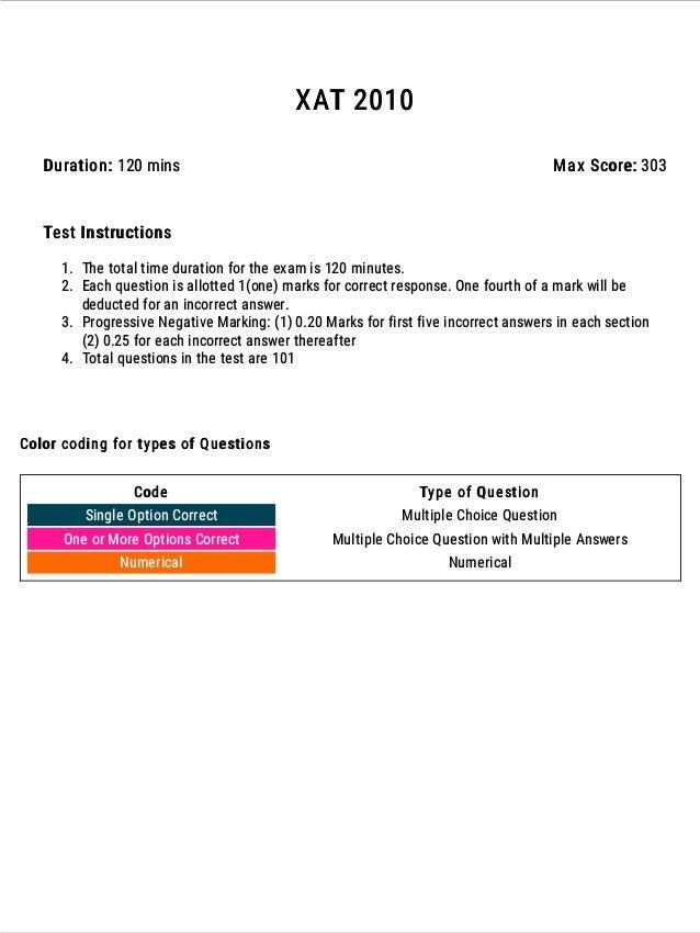 XAT 2010 Question Paper ATTEMPT ONLINE: https://www.exambazaar.com/assessment/xat-2010 2 Attempt all XAT previous year pap...