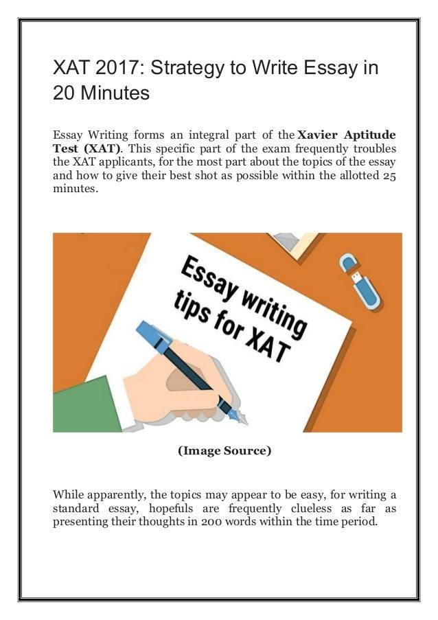 How to write an essay in xat exam