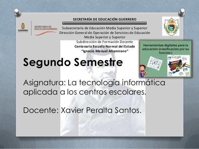 SECRETARÍA DE EDUCACIÓN GUERRERO Subsecretaría de Educación Media Superior y Superior Dirección General de Operación de Se...