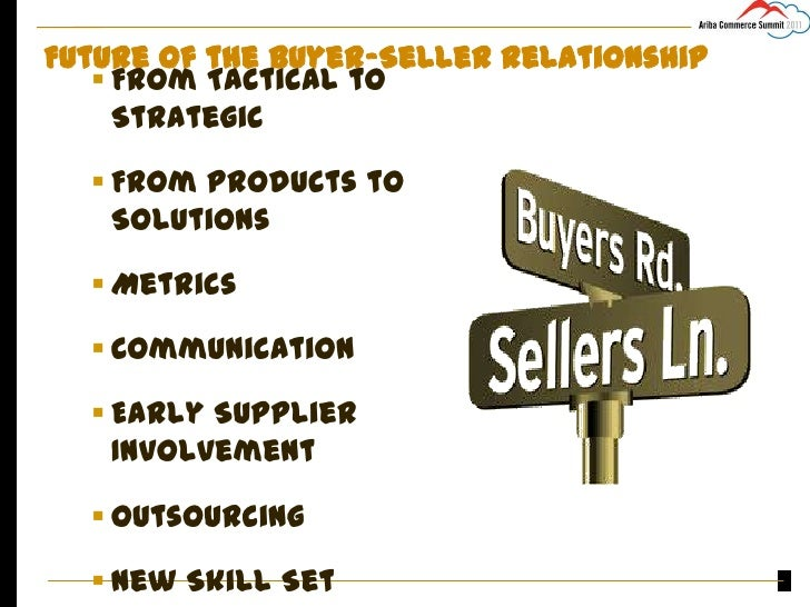 buyer and seller relationship in the Successful companies recognize the need to build bridges between their organization and their vendors by establishing strong buyer/seller relationships.
