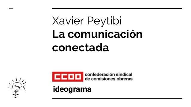 Xavier Peytibi La comunicación conectada ideograma