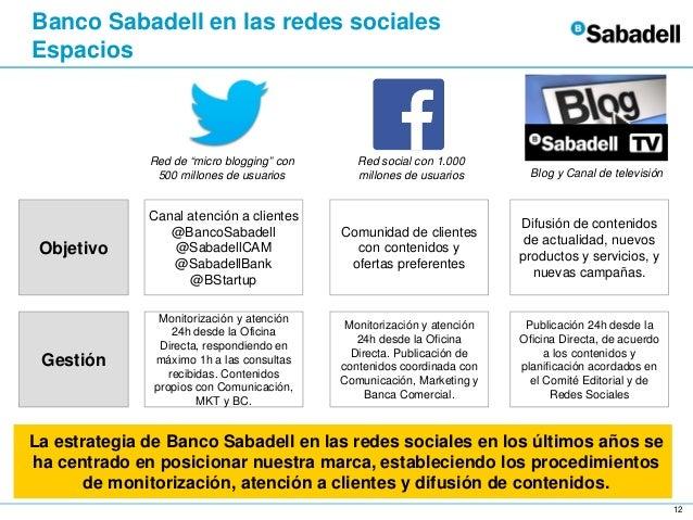 Banco sabadell en las redes sociales for Oficina 5488 banco sabadell