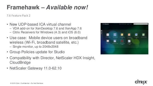 XenDesktop and XenApp - 2015 summary & bit of future
