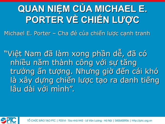 "Michael E. Porter – Cha đẻ của chiến lược cạnh tranhMichael E. Porter – Cha đẻ của chiến lược cạnh tranh""""Việt Nam đã làm ..."