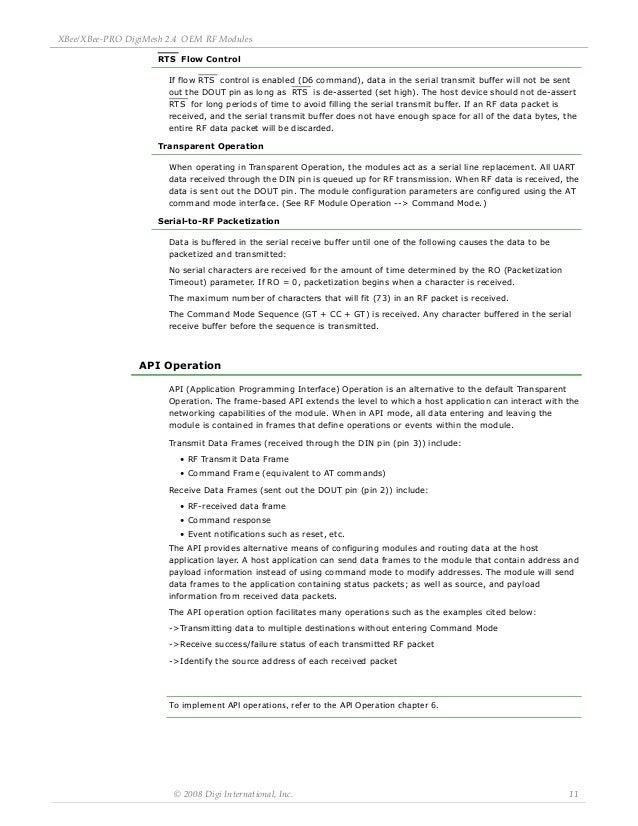 xbee pro digi-mesh 2 4 oem rf modules