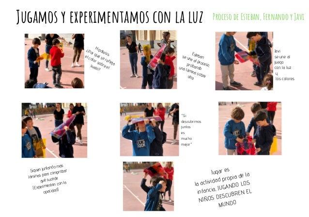 Jugamos y experimentamos con la luz Proceso de Esteban, Fernando y Javi Hip�tesis: �Por qu� se refleja el color sobre el s...