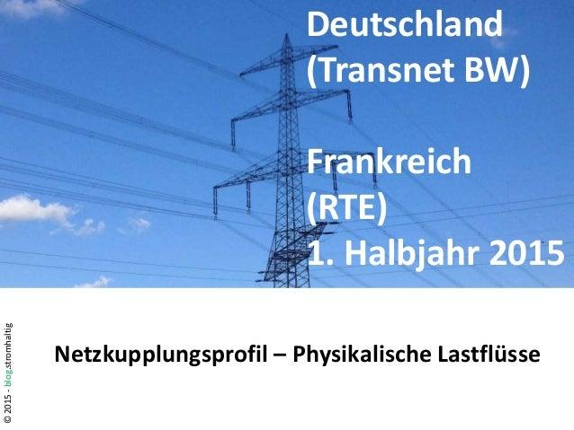 ©2015-blog.stromhaltig Deutschland (Transnet BW) Frankreich (RTE) 1. Halbjahr 2015 Netzkupplungsprofil – Physikalische Las...