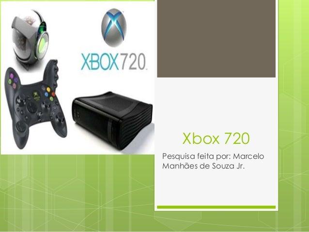 Xbox 720 Pesquisa feita por: Marcelo Manhães de Souza Jr.