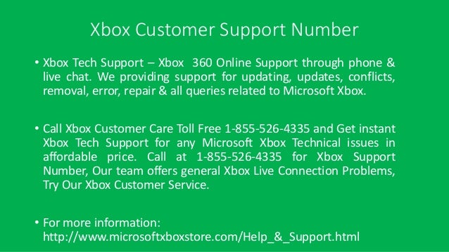 xbox live technical support