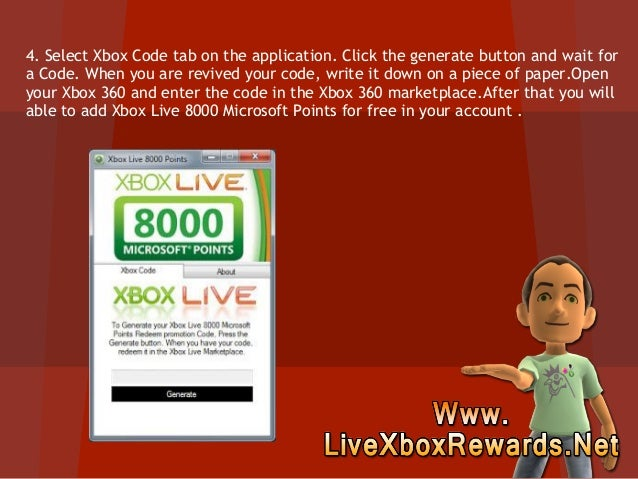 How to Get Free Xbox Live 8000 Microsoft Points Free - Tutorial