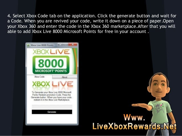 How to Get Free Xbox Live 8000 Microsoft Points Redeem Code!!
